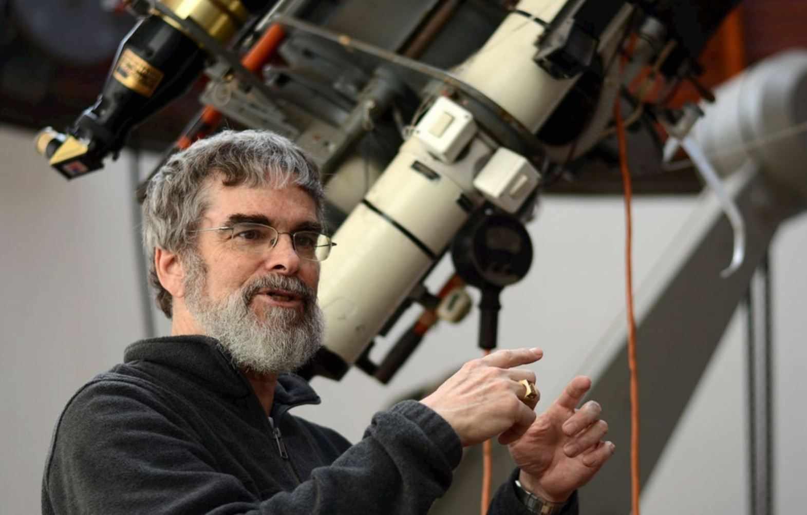 Возле телескопа